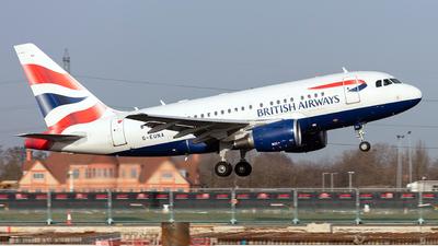 G-EUNA - Airbus A318-112 - British Airways