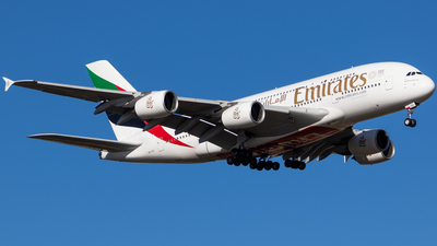 A picture of A6EUI - Airbus A380861 - Emirates - © Whiskey Tango Aviation