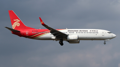 A picture of B7083 - Boeing 73787L - Shenzhen Airlines - © ceci wong