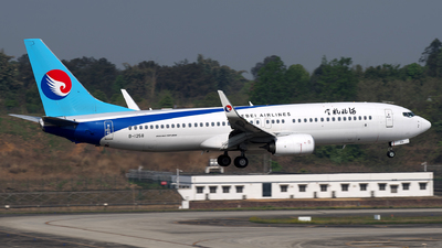A picture of B1258 - Boeing 7378LW - Hebei Airlines - © baobao723