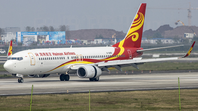 A picture of B5405 - Boeing 73784P - Hainan Airlines - © ZUCK-AIR