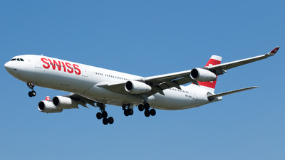 A picture of HBJMC - Airbus A340313 - Swiss - © Stephen Duquemin