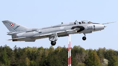 308 - Sukhoi Su-22UM3K Fitter G - Poland - Air Force