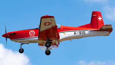 A-915 - Pilatus PC-7 - Switzerland - Air Force