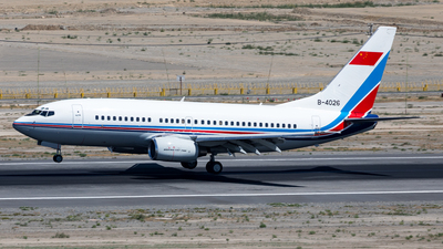 A picture of B4026 - Boeing 73776D - [33742] - © UNNAMED