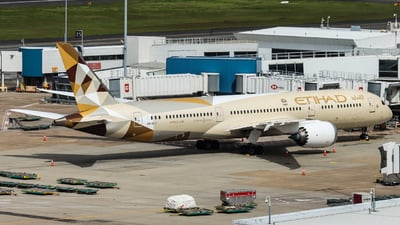 A picture of A6BLY - Boeing 7879 Dreamliner - Etihad Airways - © Vincent Borisovich Zhao