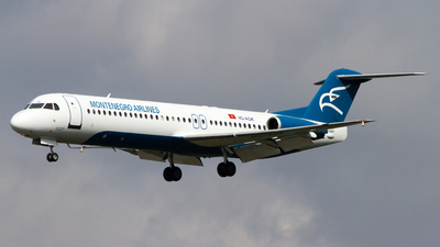 4O-AOK - Fokker 100 - Montenegro Airlines