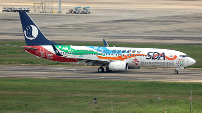 A picture of B5856 - Boeing 73789L - Shandong Airlines - © Peteryang