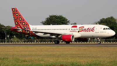 PK-LUH - Airbus A320-214 - Batik Air