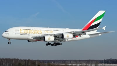 A picture of A6EUT - Airbus A380842 - Emirates - © CK