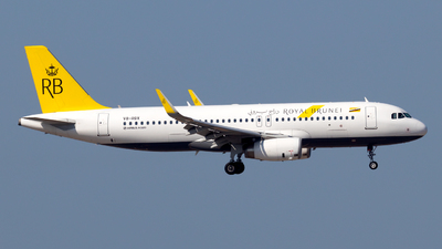 A picture of V8RBX - Airbus A320232 - Royal Brunei Airlines - © zwzhou
