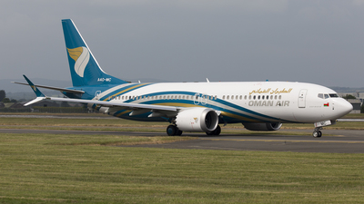 A picture of A4OMC - Boeing 737 MAX 8 - Oman Air - © Rolf Jonsen