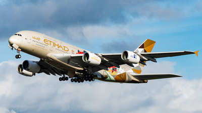 A picture of A6APD - Airbus A380861 - Etihad Airways - © Jack Williams