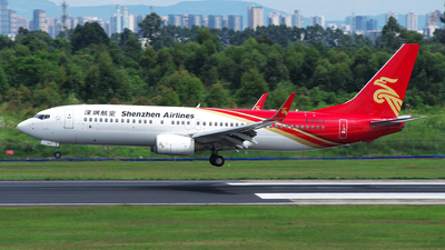 A picture of B5613 - Boeing 73787L - Shenzhen Airlines - © baobao723