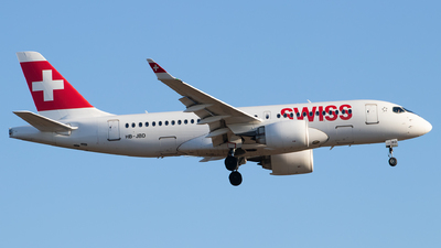 A picture of HBJBD - Airbus A220100 - Swiss - © Julian S.