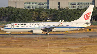 A picture of B6497 - Boeing 73789L - Air China - © Fang Xiaoyu