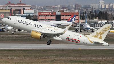A9C-TB - Airbus A320-251N - Gulf Air