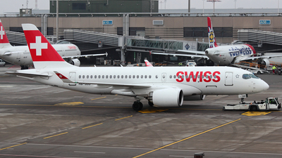 HB-JBB - Bombardier CSeries CS100 - Swiss