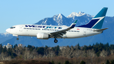 A picture of CGGWJ - Boeing 7377CT - WestJet - © Chung Kwok