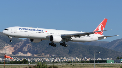 A picture of TCLJA - Boeing 7773F2(ER) - Turkish Airlines - © George Chaidaris