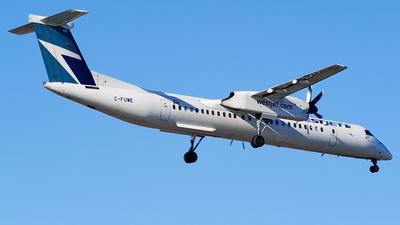 A picture of CFUWE - De Havilland Canada Dash 8400 - WestJet - © Yari Strban