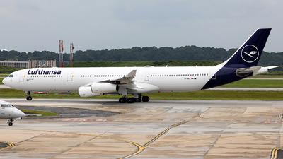 A picture of DAIFD - Airbus A340313 - Lufthansa - © JinZi