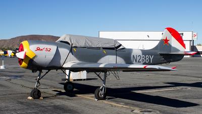 N288Y - Yakovlev Yak-52 - Private