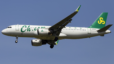 A picture of B6707 - Airbus A320214 - Spring Airlines - © XieTM
