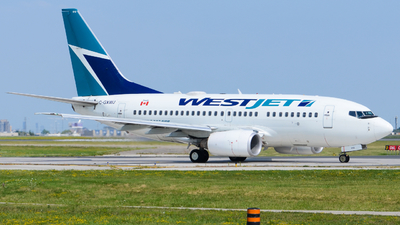 A picture of CGXWJ - Boeing 7376CT - WestJet - © Aaron Miles