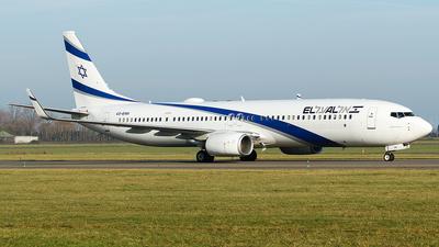 A picture of 4XEHH - Boeing 737958(ER) - El Al - © Douwe C. van der Zee