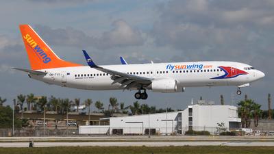 OK-TVS - Boeing 737-86N - Sunwing Airlines (Travel Service)