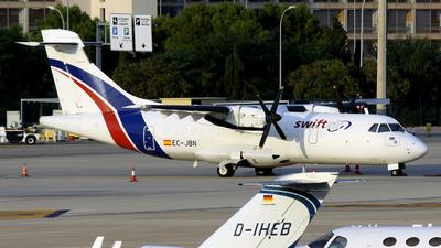 A picture of ECJBN - ATR 42300(QC) - Swiftair - © Javier Rodriguez - Amics de Son Sant Joan