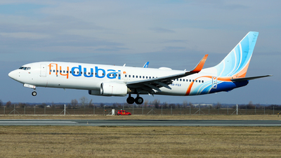 A picture of A6FEX - Boeing 7378KN - FlyDubai - © Marin Ghe.