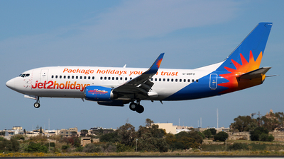 A picture of GGDFO - Boeing 7373U3 - Jet2 - © Maria CP