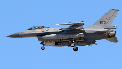 670 - General Dynamics F-16AM Fighting Falcon - Norway - Air Force