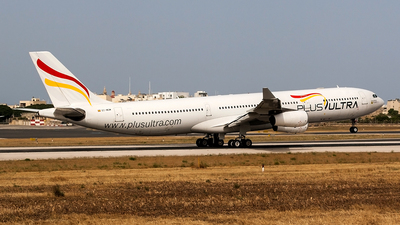 A picture of ECMQM - Airbus A340313 - Plus Ultra - © Ray Pace