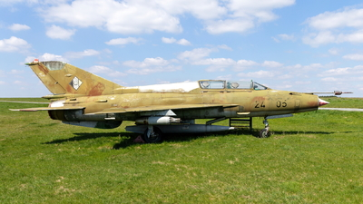 24-05 - Mikoyan-Gurevich MiG-21US Mongol B - German Democratic Republic - Air Force