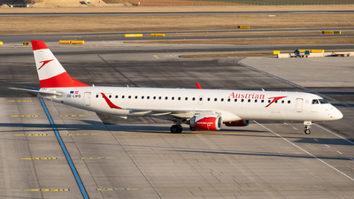 A picture of OELWQ - Embraer E195LR - Austrian Airlines - © Thomas Ranner