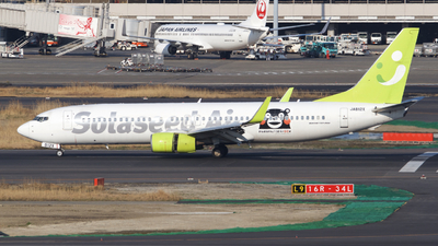 A picture of JA812X - Boeing 73786N - Solaseed Air - © tora-tora