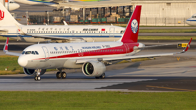 A picture of B30DZ - Airbus A320271N - Sichuan Airlines - © XieTM