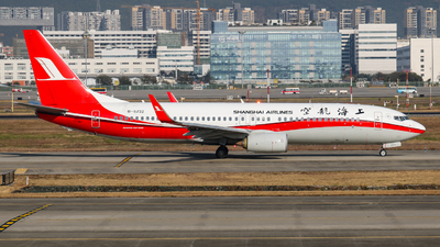 A picture of B5722 - Boeing 73789P - Shanghai Airlines - © libohang