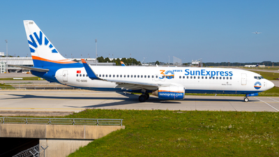 A picture of TCSOO - Boeing 7378AS - SunExpress - © Martin Tietz
