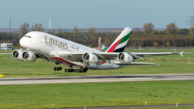 A picture of A6EOX - Airbus A380861 - Emirates - © Sebastian Thiel