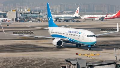A picture of B7831 - Boeing 73785C - Xiamen Air - © Yan Shuai