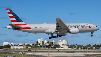A picture of N767AJ - Boeing 777223(ER) - American Airlines - © Juan Carlos Aponte