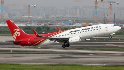 A picture of B5379 - Boeing 7378AL - Shenzhen Airlines - © YIJING HOU