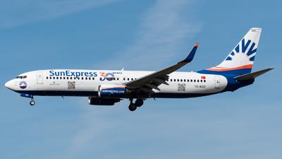 A picture of TCSOO - Boeing 7378AS - SunExpress - © Chris de Breun