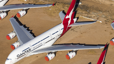 A picture of VHOQK - Airbus A380842 - Qantas - © David Lee