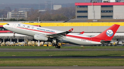 A picture of B8332 - Airbus A330243 - Sichuan Airlines - © wim callaert