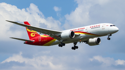 A picture of B2738 - Boeing 7878 Dreamliner - Hainan Airlines - © BillyLIAO